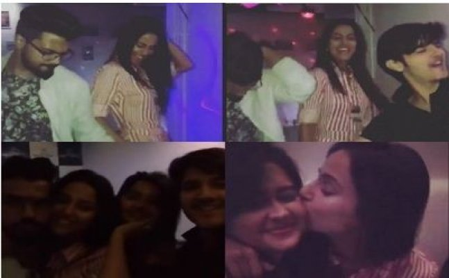 Hina Khan dances with BF Rocky J on Sapna's song