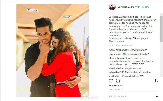 BB fame Prince Narula-Yuvika are officially engaged