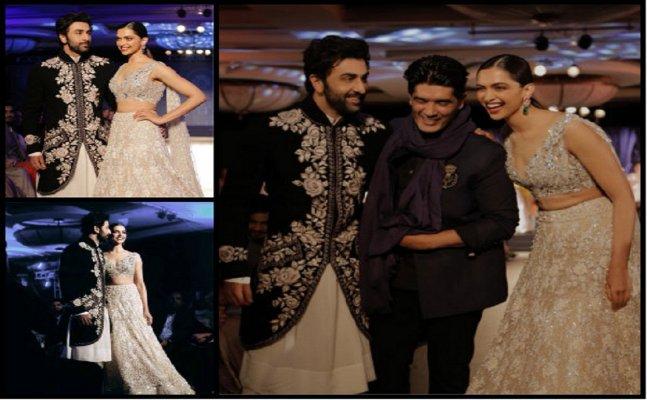 Ex-lovers Ranbir Kapoor, Deepika Padukone walk the ramp hand-in-hand