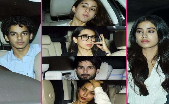 Shahid Kapoor to Sara Ali Khan; Celebs arrive for 'Dhadak' screening
