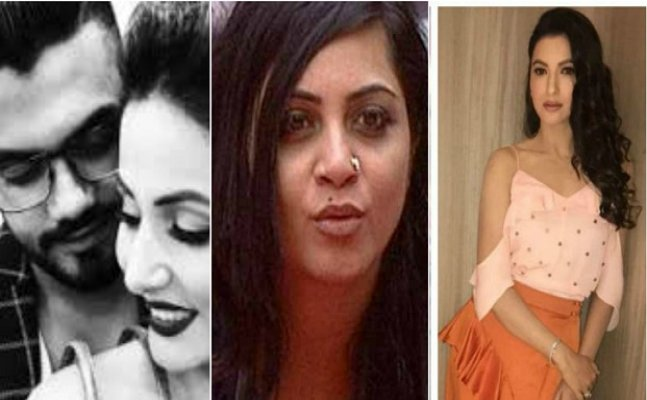Hina's BF Rocky Jaiswal calls Arshi 'FILTHY' woman and Gauhar 'UNINVITED'