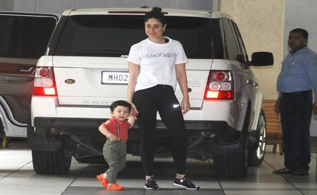 AWWDORABLE! Taimur Ali Khan goes for a movie date with Kareena