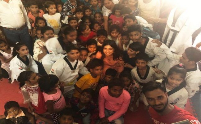 Bhumi Pednekar spends time in Chambal's orphanage