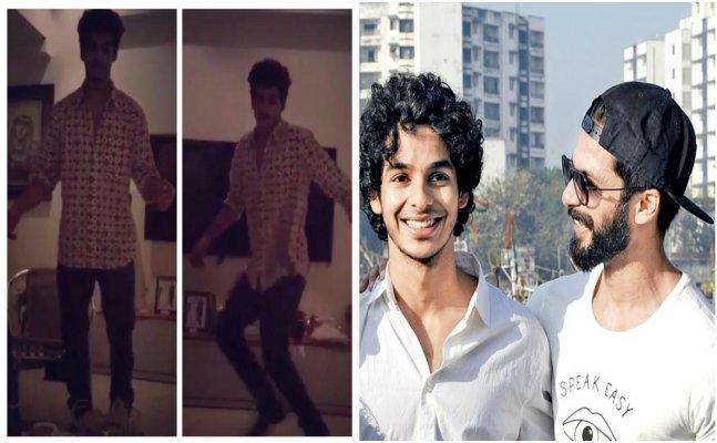 Ishaan Khatter grooves just like bro Shahid Kapoor