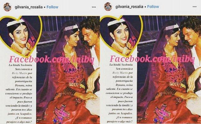 Blast from Past: Sushmita Sen shares pic of Ricky Martin