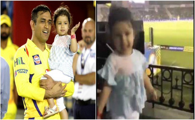 IPL 2018: Ziva dances while daddy Dhoni hits sixes