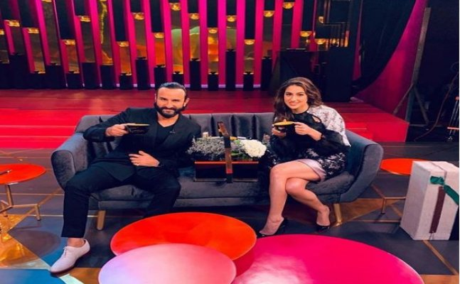 Sara Ali Khan debuts on the Koffee couch with daddy Saif