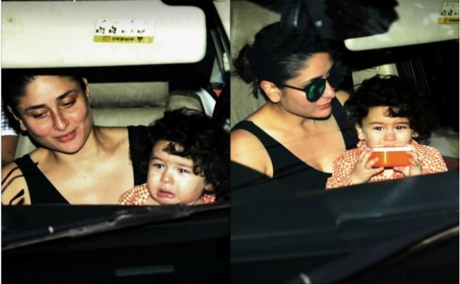 Taimur gets teary eyed while Kareena tries to cheer him