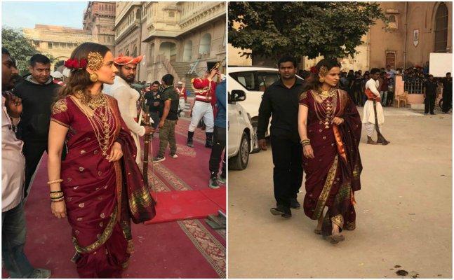 Kangana Ranaut shoots for 'Manikarnika' in Bikaner