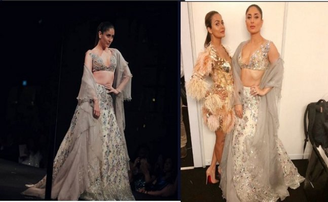 Kareena Kapoor looks sexy as AF in lehenga with a plunging neckline blouse