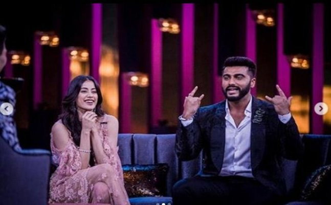 PICS: Janhvi and Arjun Kapoor shoot for Koffee with Karan 6