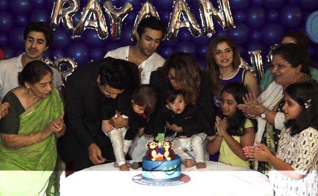 Krushna Abhishek and Kashmeera Shah host GRAND birthday bash for twins
