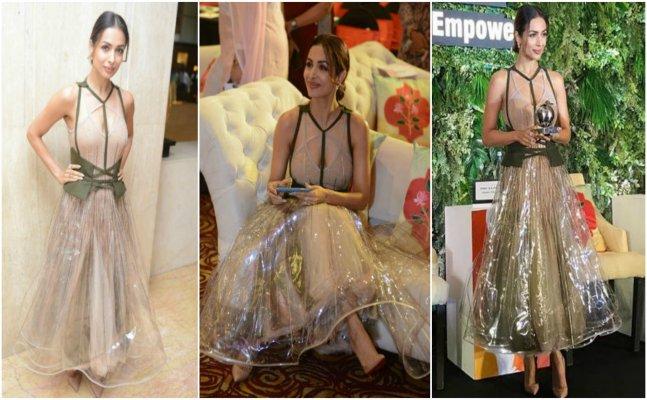 Malaika Arora trolled for wearing a 'raincoat' dress