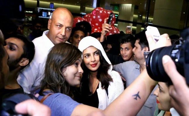 Priyanka Chopra laughs at a fan asking for selfie
