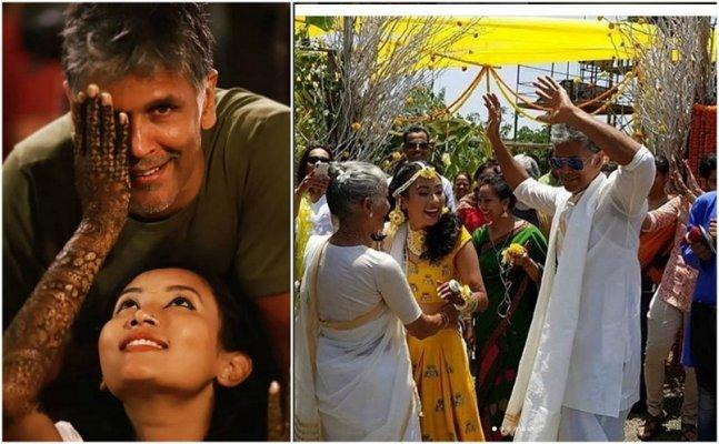 Watch Milind Soman and Ankita Konwar dancing as they ring wedding bells