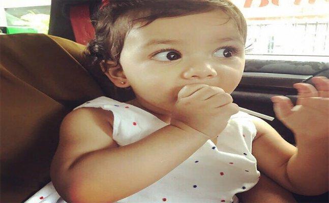 Photo Alert! Shahid's li'l angel Misha gets her ears pierced