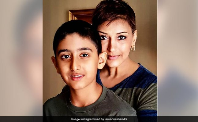 Sonali Bendre posts about her son's reaction on her cancer news