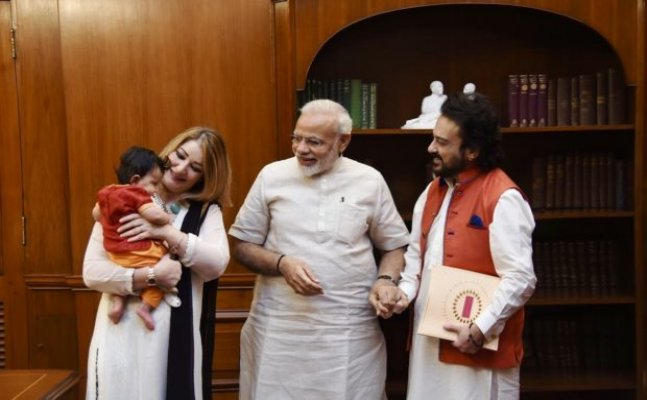 Adnan Sami paid a visit to PM Modi along with his daughter Medina