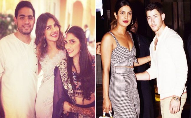 Priyanka Chopra-Nick Jonas attend party of Akash Ambani-Shloka Mehta
