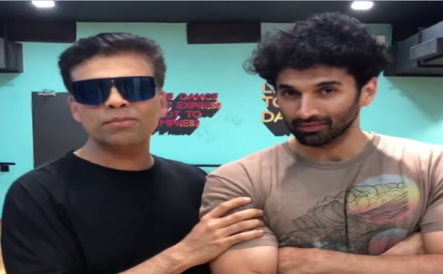 VIDEO: Karan Johar spotted at dance practice with Varun Dhawan, Aditya Roy Kapur and Kriti Sanon