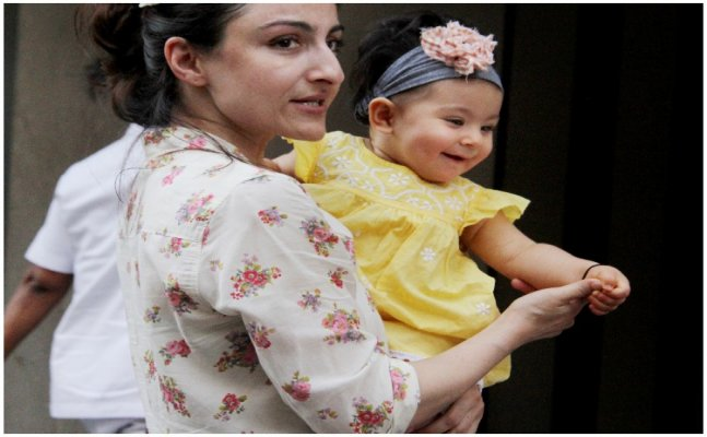 CUTENESS ALERT! Inaaya spotted in public with mommy Soha Ali Khan