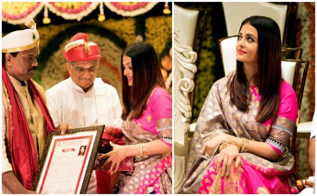 Pretty in Pink! Aishwarya SIZZLES in a GORGEOUS saree