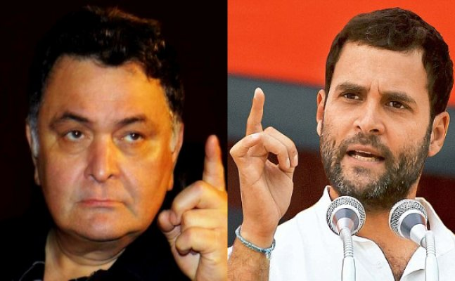Rishi Kapoor lashes out at Rahul Gandhi for 'gundagardi'