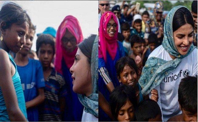 Priyanka Chopra visits Rohingya refugee camps; trolled on Twitter