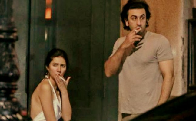 Ranbir Kapoor and Mahira Khan spotted smoking together in public