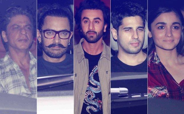 While Shah Rukh-Aamir became friends, Alia-Sidharth turned strangers at Ranbir Kapoor's birthday