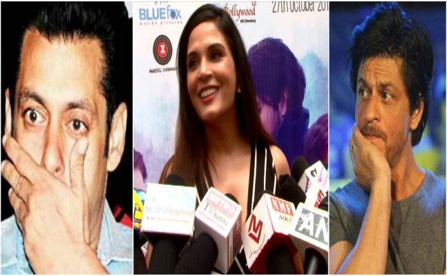 Is Richa Chadda advicing Salman and Shah Rukh to invest in writers?