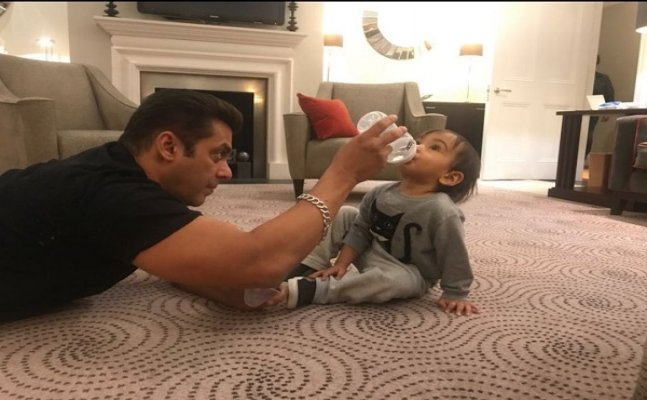 Look what Salman Khan is feeding his nephew Ahil in this latest pic