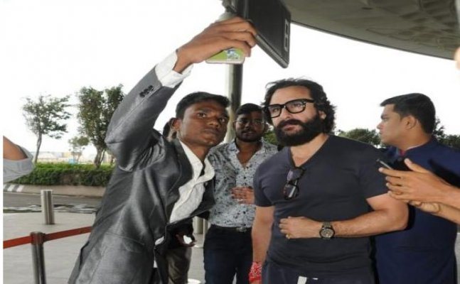 Saif Ali Khan's angry reaction to a fan asking for selfie