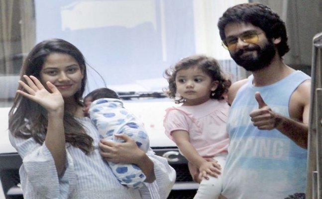 Shahid's daughter Misha's reaction on her new baby brother