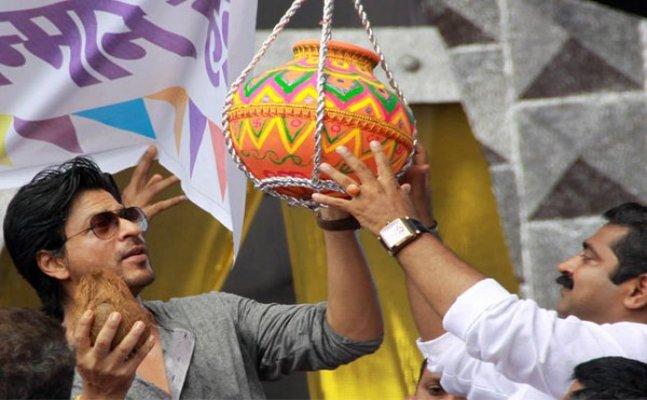 Janmashtmi Special: Shah Rukh Khan celebrates Dahi Handi!