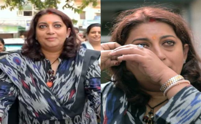 WATCH: Smriti Irani starts CRYING after visiting her first home