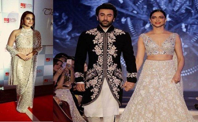 'MFS 2018': Sonakshi, Deepika look STUNNING in embellished gowns