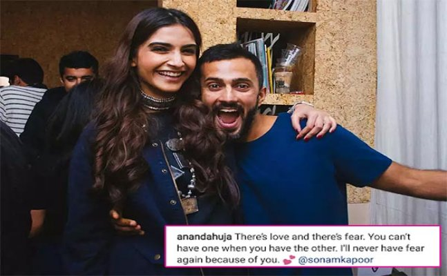 Sonam Kapoor and Anand Ahuja indulge in some social media PDA!