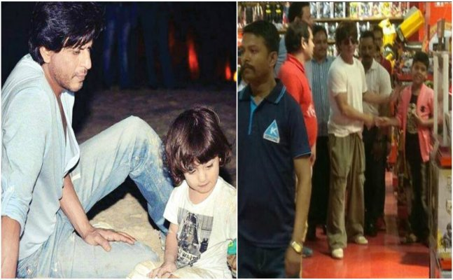 VIRAL VIDEO: Shah Rukh toy shopping for AbRam