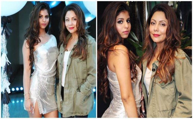 Suhana Khan parties with mom Gauri Khan; see pics