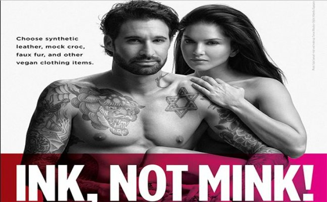 Sunny Leone goes NUDE with hubby Daniel for PETA campaign