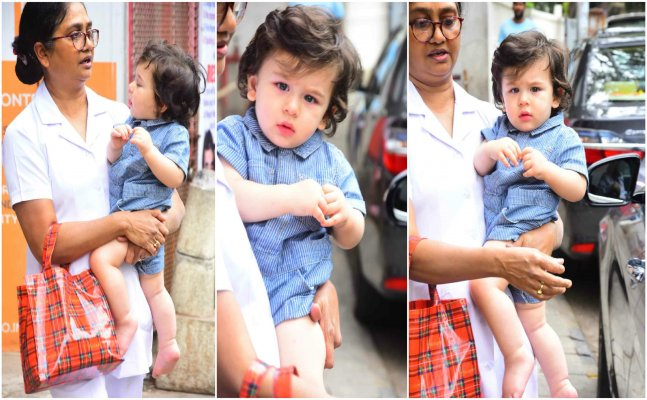 Taimur looks aww-dorable as he steps out for play school