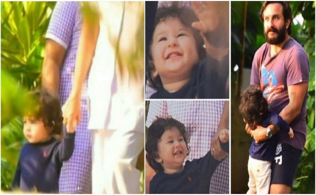 Taimur rushes to hug daddy Saif on seeing him