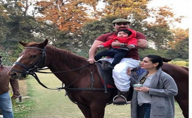 See pic: Taimur rides a horse with dad Saif Ali Khan at Pataudi Palace is the cutest thing on the internet