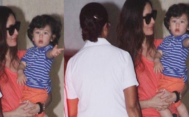 CUTENESS OVERLOADED! Kareena Kapoor twins with Taimur Ali Khan in orange colour