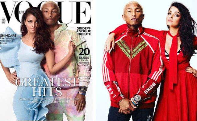Aishwarya Rai looks 10 yrs younger while posing with Pharrell Williams