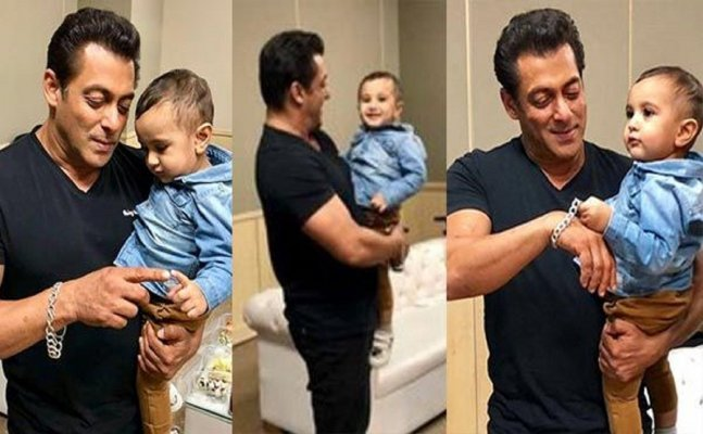 Salman Khan's latest pictures with Irfan Pathan's son will make your day!
