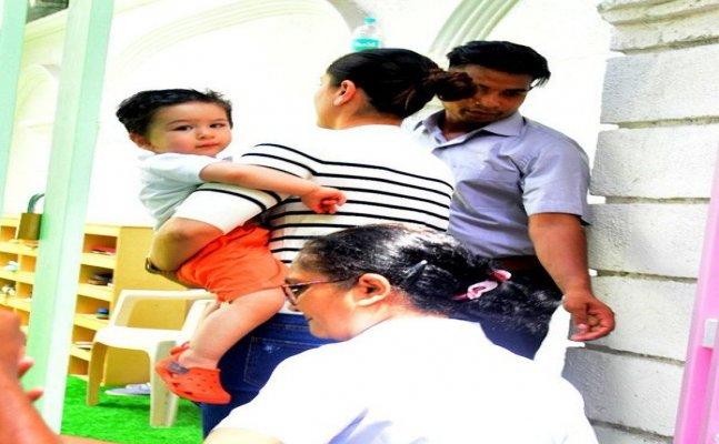 Kareena Kapoor visits Taimur Ali Khan's playschool