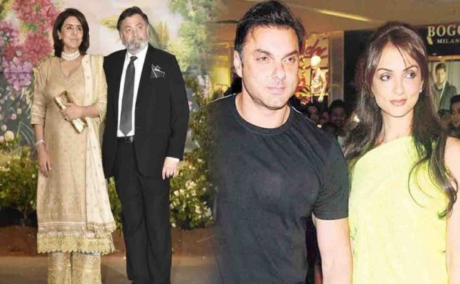 Rishi Kapoor MISBEHAVES with Salman Khan's sister-in-law at Sonam Kapoor's Party