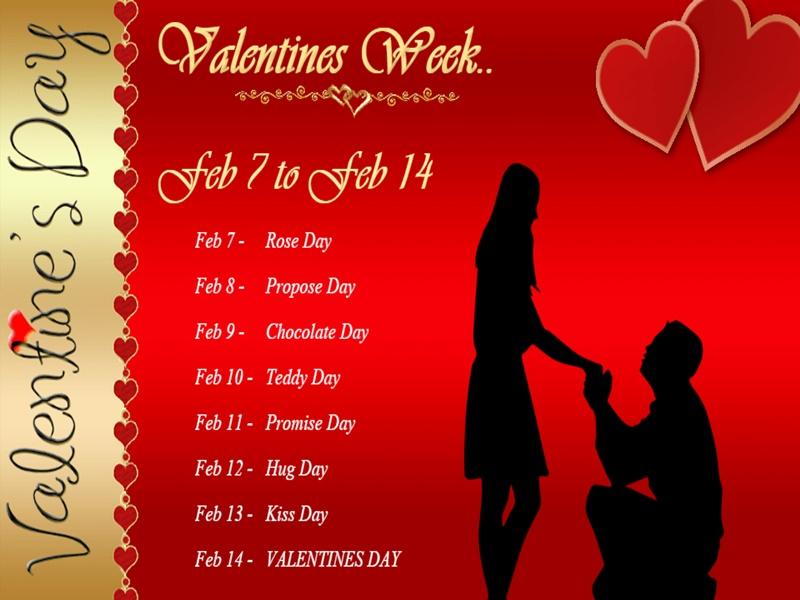 Valentine day week calendar: जानिए 7-14 फरवरी का पूरा शेड्यूल